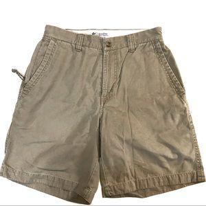Columbia tan khaki women's cotton shorts size 8